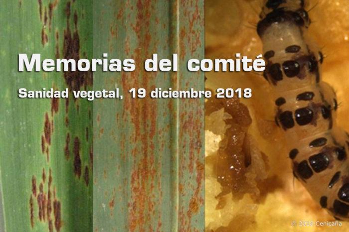 Comité de sanidad vegetal de la caña de azúcar, 19 de diciembre de 2018