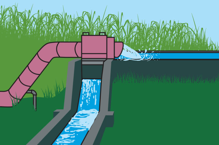 Hydrological balance in supply and demand of water for irrigation in a productive unit