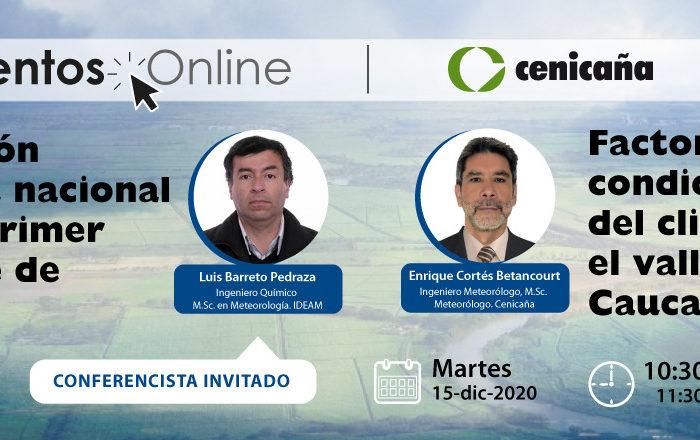 Factores condicionantes del clima en el valle del río Cauca, 15-dic-2020