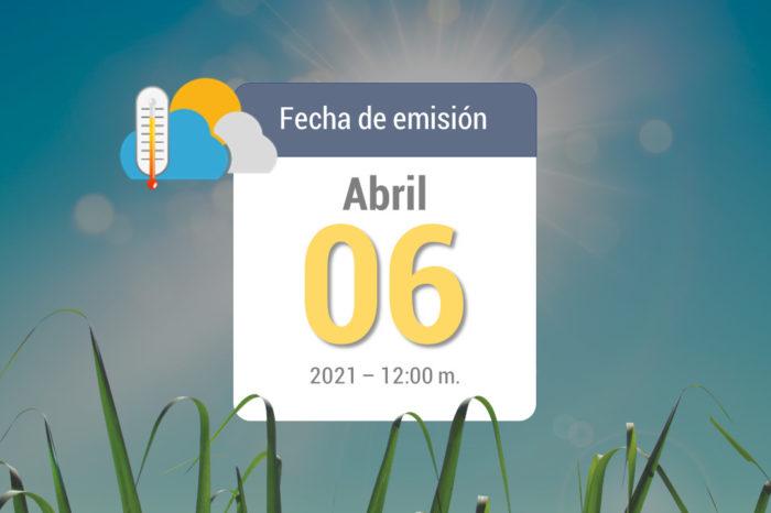 Weather forecast, Apr 06, 2021
