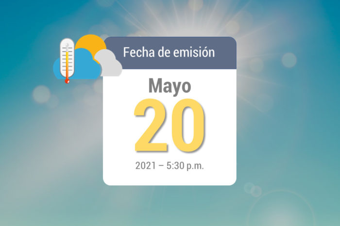 Pronóstico de lluvias semanal, 21-may a 27-may de 2021