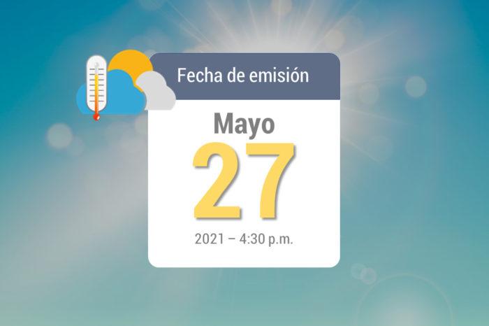 Weekly rain forecast, May 27 to Jun 03, 2021