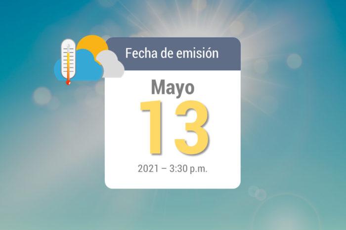 Weekly rain forecast, May 14 to May 20, 2021