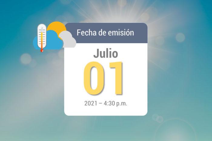 Weekly rain forecast, Jul 2 to Jul 8, 2021