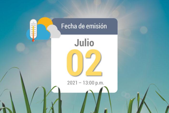 Pronóstico del tiempo, 02jul-2021