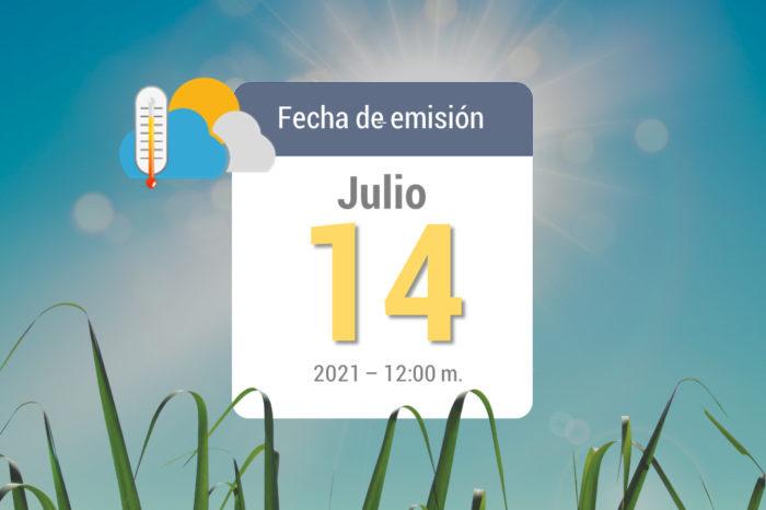 Weather forecast, Jul 14-2021
