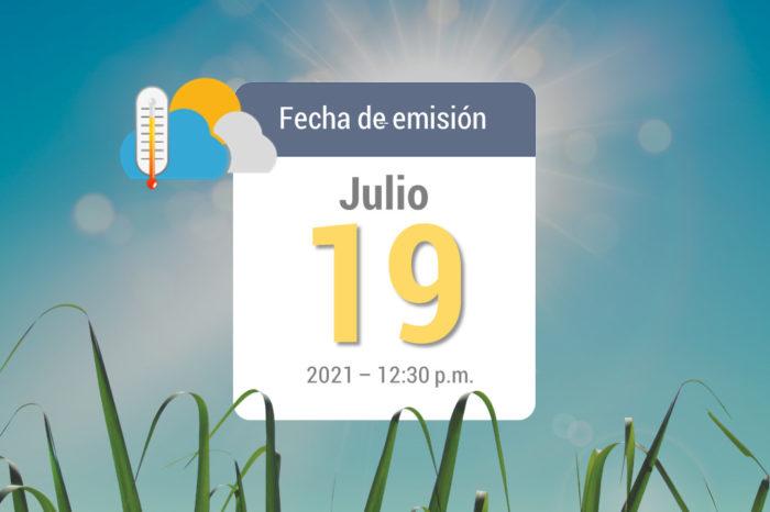 Weather forecast, Jul 19-2021