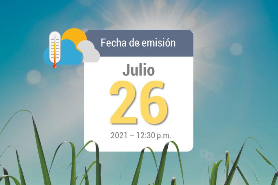 Pronóstico del tiempo, 26jul-2021