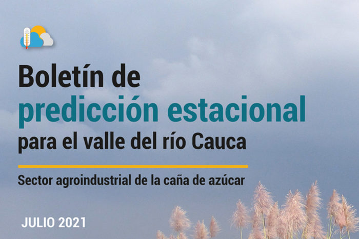 Boletín de predicción estacional para el valle del río Cauca, 2-jul-2021