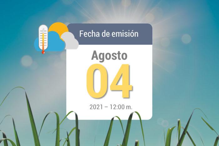 Weather forecast, Aug 4, 2021