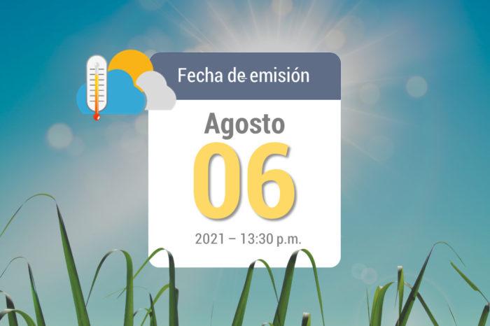 Weather forecast, Aug 6, 2021
