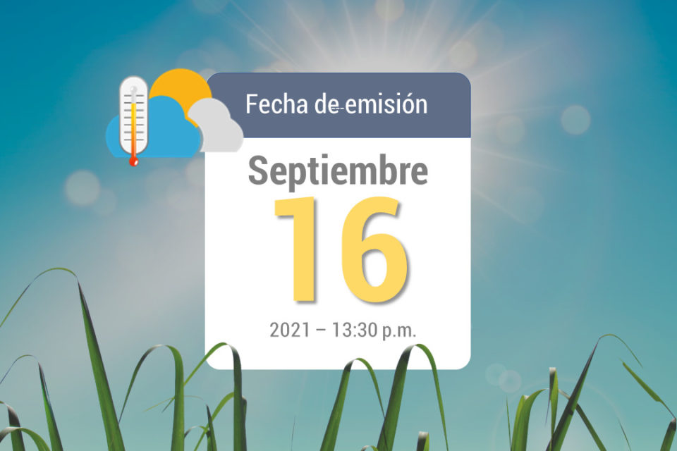 Weather forecast, Sep 16, 2021