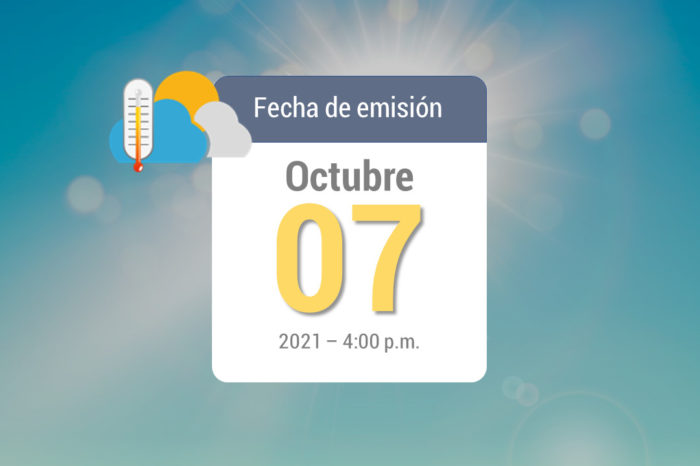 Pronóstico de lluvias semanal, oct 8 al 14 de 2021