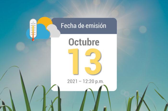 Pronóstico del tiempo, 13 oct-2021